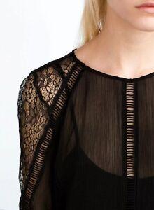 ZARA Trf LONG LACE DRESS MAXIKLEID LANGES SPITZENKLEID Bloggers Ausverkauft