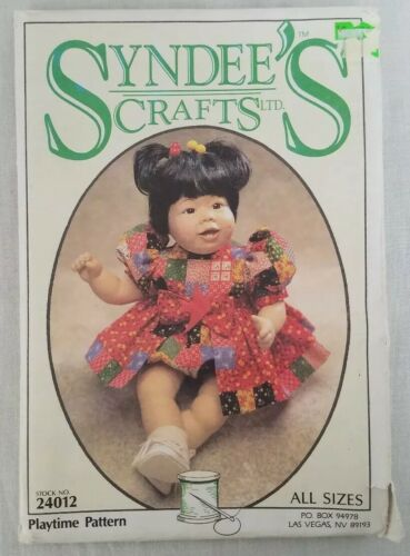 Syndees Crafts Doll Clothes 4 Sew Patterns Precious Victoria Baby Doll Playtime  - $14.99