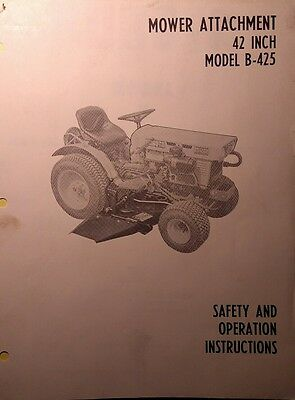 Kubota B6000 Diesel 4x4 Tractor 42 Mower Implement Operator Parts Manuals 16pg