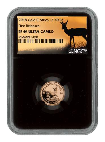 2018 South Africa 1/10 oz. Gold Krugerrand NGC PF69 UC FR Black Core SKU54389