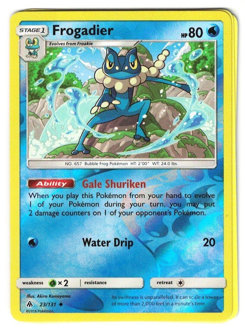Forbidden Light  Uncommon  Mint//NM  Pokemon Frogadier  23//131 S/&M