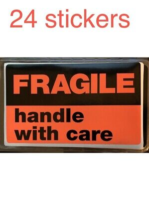 Fragile Handle With Care Shipping Labels 24 Individual 3 X 5 Large Stickers