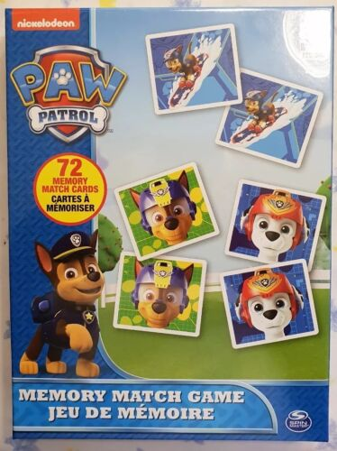 New Nickelodeon - Paw Patrol  Memory Match Game by Spin Mast