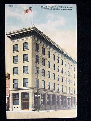 Grand Valley National Bank Grand Junction Colorado  Post Card 1900S  660