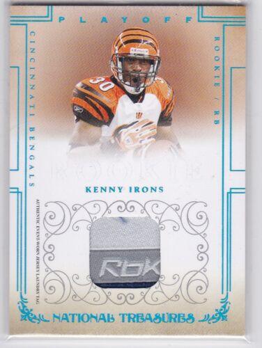 KENNY IRONS 2007 National Treasures #120 Material Equipment RC #