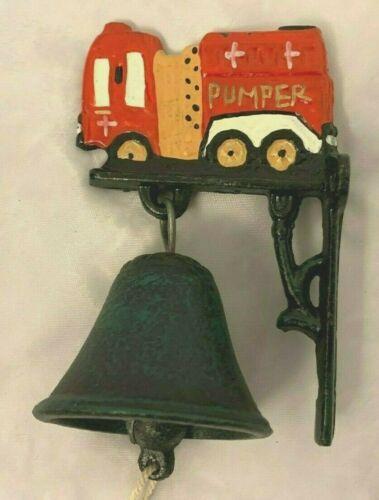 "Cast Metal 5"" Fire Truck Pumper with Bell Figurine"