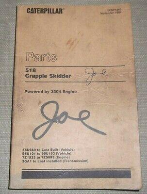 Cat Caterpillar 518 Grapple Skidder Parts Manual Book Sn 55u669-up 95u101-up