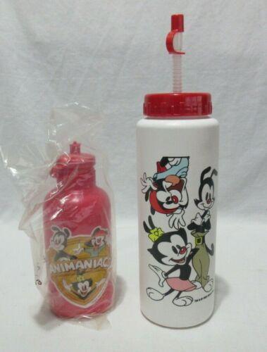Lot of 2 Vintage Animaniacs Water Bottles NOS New Old Stock Yakko Wakko Dot BIN