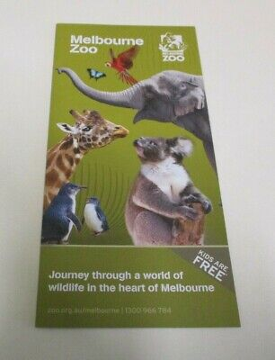 Melbourne Zoo - Promotional and Information Brochure - Zoos Victoria - 2021