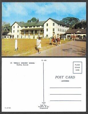 Old Malaysea Postcard - Kuching, Sarawak - St. Teresa's Convent School