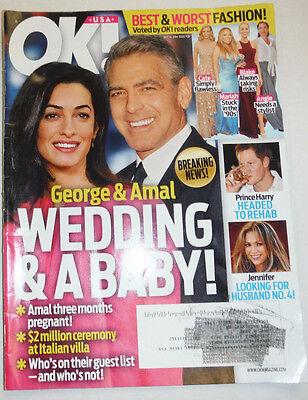 Ok  Magazine George Clooney   Prince Harry July 2014 121714R