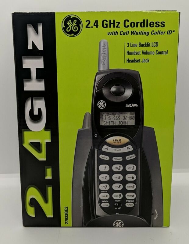 GE 2.4GHz Cordless Telephone w / Call Waiting Caller ID