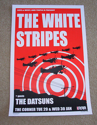 THE WHITE STRIPES concert gig poster MELBOURNE 2002 jack third man records