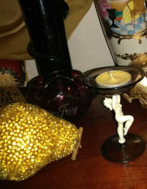 Bimini nude glass / candle holder Beautiful
