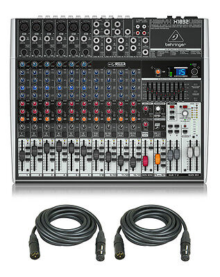 Behringer X1832USB 18-Channel Live Sound Mixer Board USB,FX, EQ + (2) XLR Cables. Buy it now for 299.99