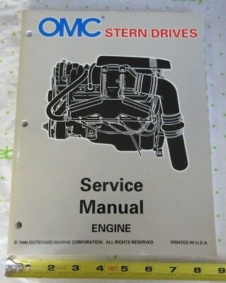 1996 OMC Stern Drive 'LK' Boat Engine Service Manual 507282, 0507282
