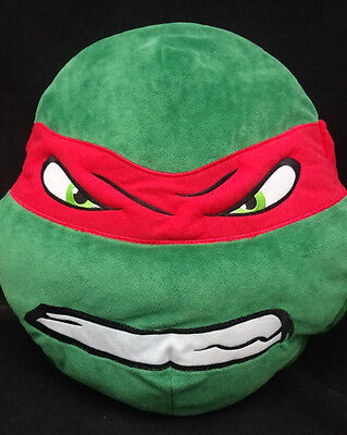 Teenage Mutant Ninja Turtles Rapheal Gesicht Kissen Rot Grün Plüsch 14 X 13 CM ()