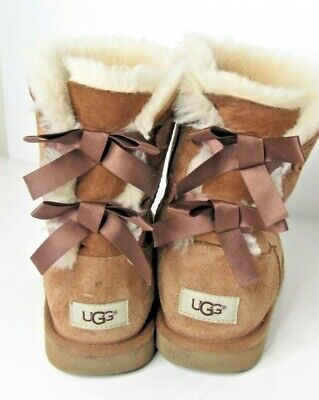 BIG KIDS' UGG AUSTRALIA BAILEY BOW II BOOTS !! CHES !!  1017394K Size 5