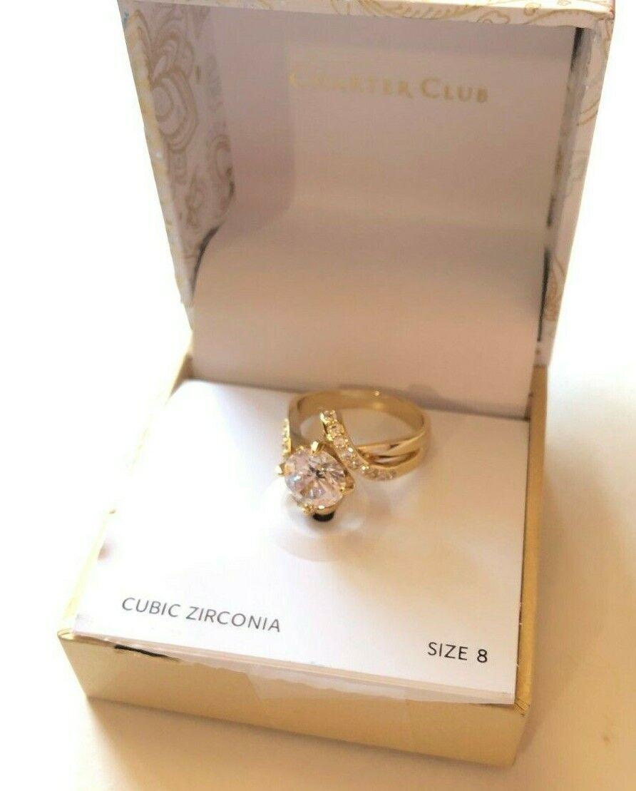ring set size 5 gold tone new
