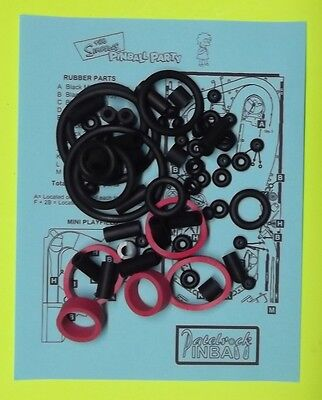 Stern The Simpsons Pinball Party rubber ring kit TSPP
