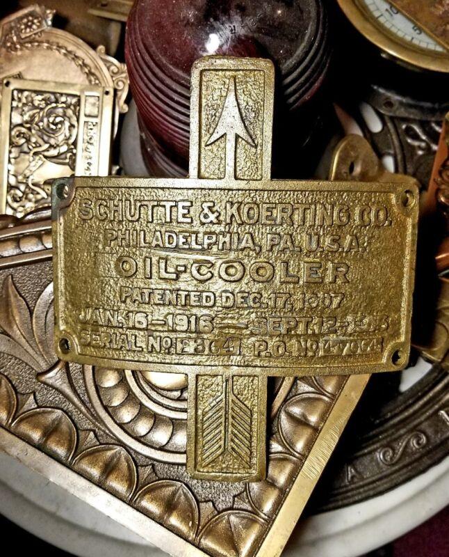 Schutte & Koerting co Philadelphia Pa 1910s Marine Engine Antique Steam Plaque