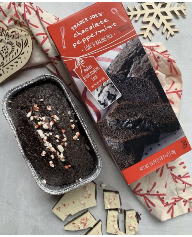 2X Trader Joe's Chocolate Peppermint Loaf & Baking Mix! • FAST SHIPPING!