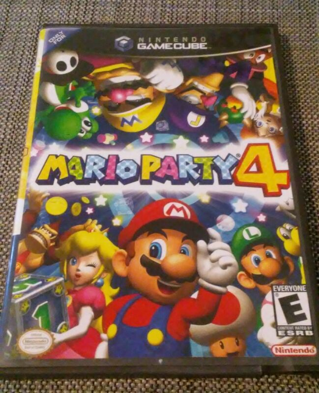 MARIO PARTY 4 - NINTENDO GAMECUBE -  REPLACEMENT CASE - DVD CASE - NO DISC