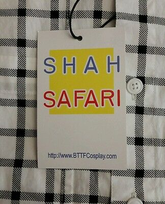 Mcfly Kostüm (Official Shah Safari Marty McFly Back to the Future button up shirt)