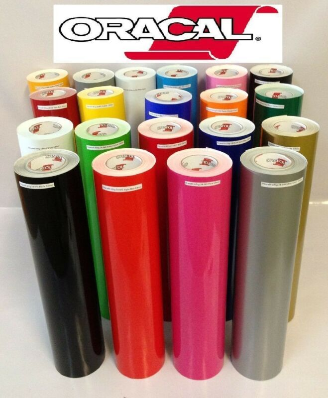 "12"" Adhesive Vinyl  10 Rolls 12 x 5 Feet  Oracal 651   Total 50 Feet Made in usa"
