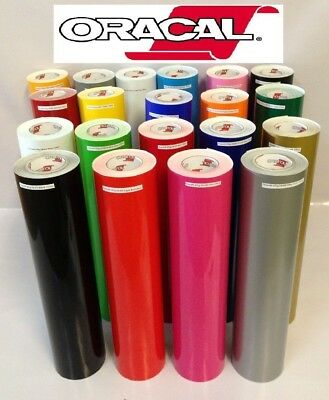 "30 rolls 12"" 5ft Oracal 651 Gloss adhesive backed vinyl Sign & Craft Fresh New"