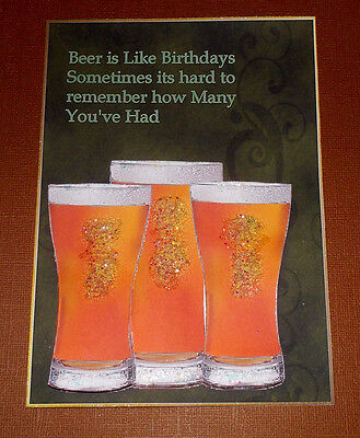 Handmade Greeting Card 3D Humorous Birthday With  Beer