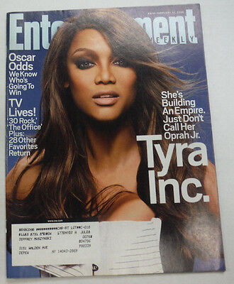 Entertainment Weekly Magazine Tyra Banks   30 Rock February 2008 051615R