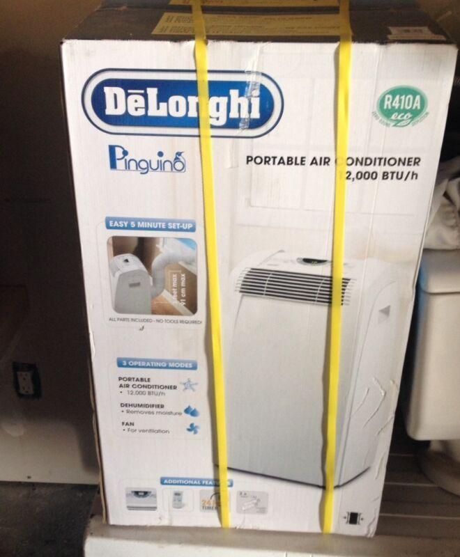 DeLonghi 400 Sq. Ft Portable Air Conditioner White PAC-C120E