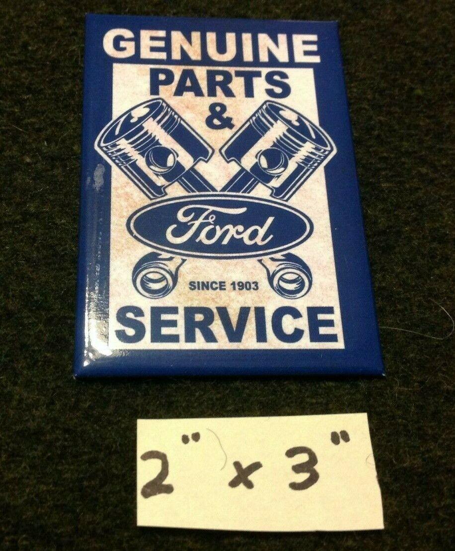 ford genuine parts service tin ice box