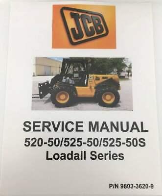 Jcb Handler Loadall Series 520-50525-50525-50s Service Manual-9803-3620-9