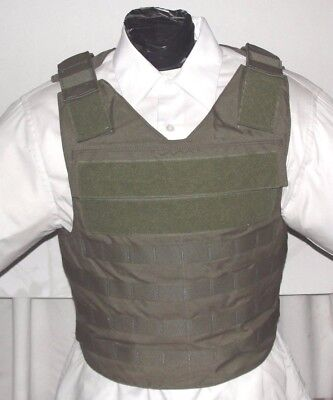 New Large IIIA 3A Tactical Plate Carrier Body Armor Bullet Proof Vest Kevlar