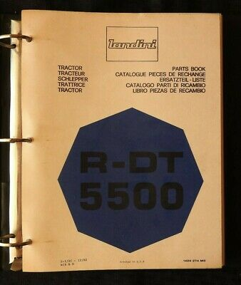 Genuine Landini R-dt 5500 Tractor Parts Catalog Manual Wbinder Very Good Shape