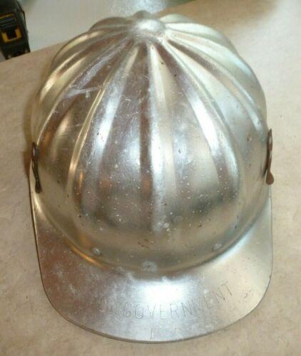 Vintage, Metal U.S. Government Hard Hat Superlite by FibreMetal