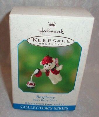 2001 Hallmark Raspberry Fairy Berry Bears 3rd in Series Ornament - Raspberry Sprite