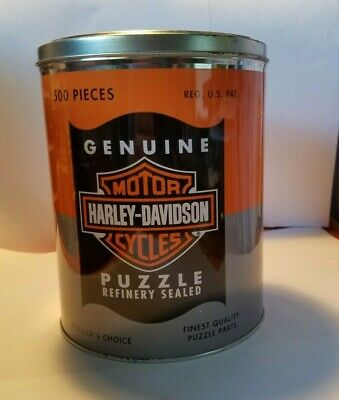Harley Davidson Oil Can Collectors Tin 500 Piece Jigsaw Puzzle