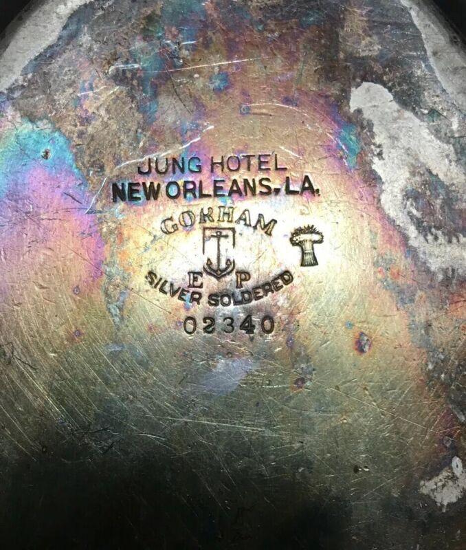 Vintage 20's Gorham Silver Soldered Serving Dish Jung Hotel New Orleans