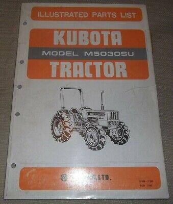 Kubota M5030su Tractor Parts Manual Book Catalog