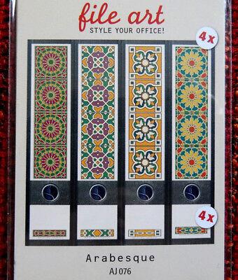 Design Ordner-Rückenschilder, selbstklebend, breit - Motiv Arabesque