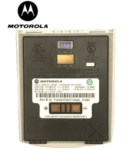 BRAND NEW WHITE  Motorola MC55/ MC65 Battery 3600mAh 82-111094-02