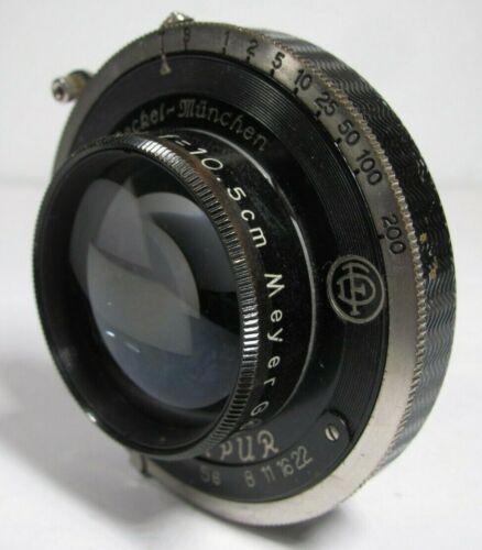 Meyer Optik Gorlitz Trioplan 10.5cm 105mm F/2.9 Lens in F. Deckel Compur Shutter