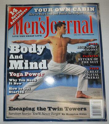 Men's Journal Magazine Yoga Power & Best Sport Wagons April 2002