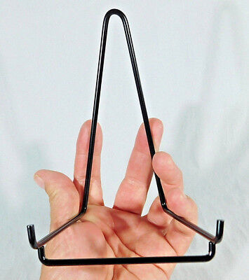 ONE! Large BLACK Colored Easel Display Stand for Plates, Fossils and -