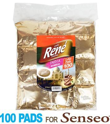 Philips Senseo 100 x Café Rene Crème India Coffee Pads Bags Pods for sale  United Kingdom