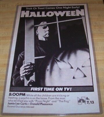 Halloween 1978 Michael Myers 11X17 TV Guide Movie Poster