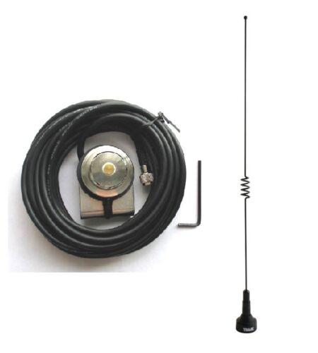 Dual Band Antenna UHF VHF 140-170 430-470 Trunk Mount Mini-UHF Mobile Radio Ham